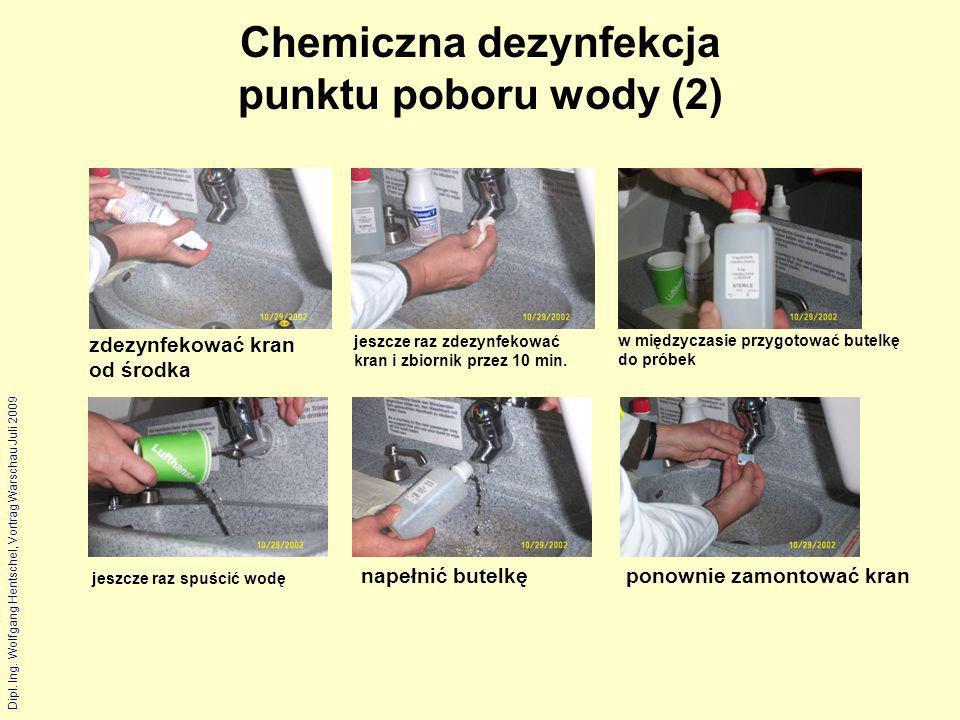 Chemiczna dezynfekcja punktu poboru wody (2)