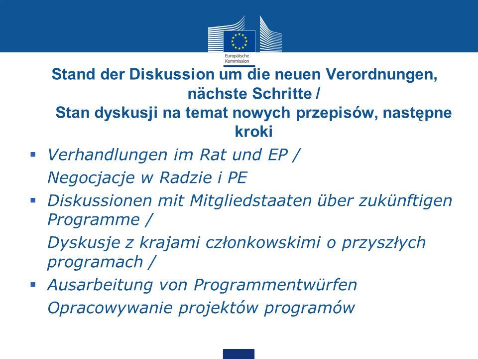 Verhandlungen im Rat und EP / Negocjacje w Radzie i PE