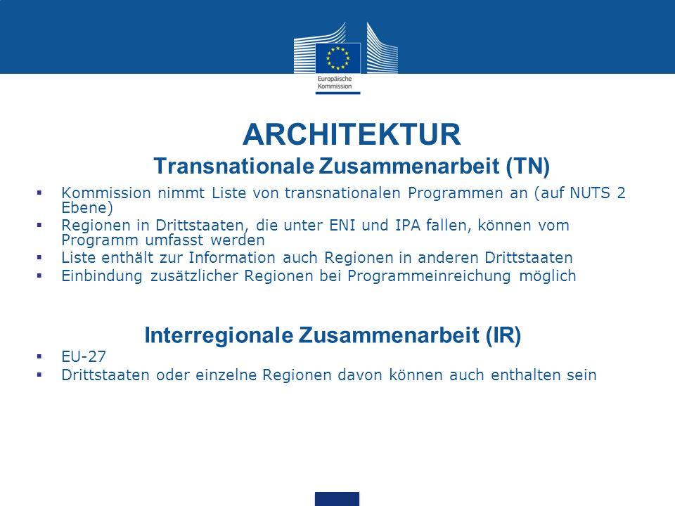 ARCHITEKTUR Transnationale Zusammenarbeit (TN)
