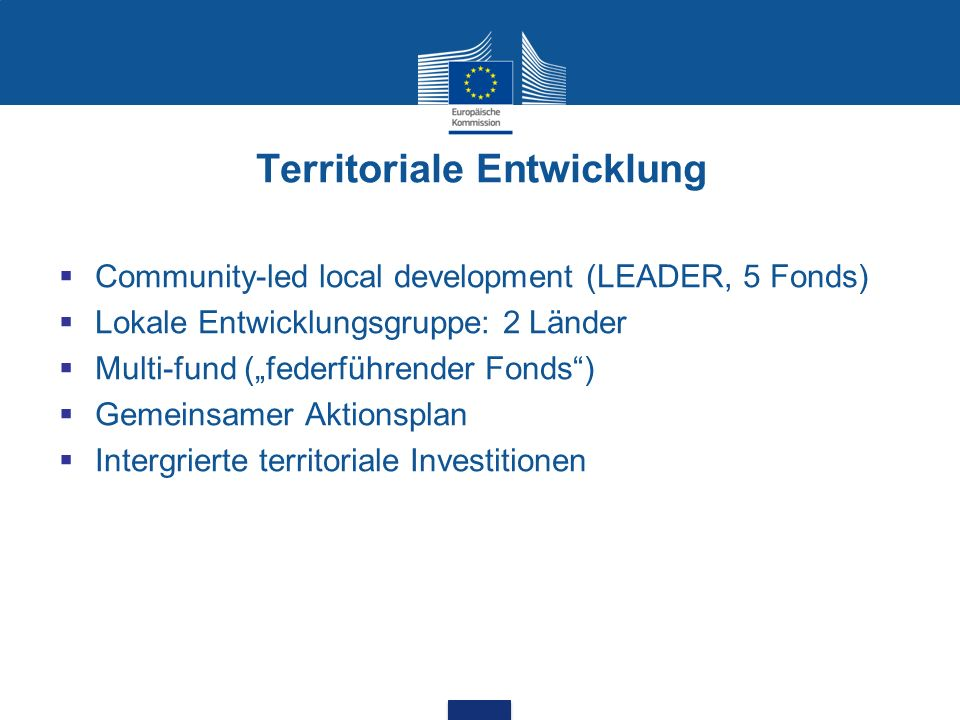 Territoriale Entwicklung