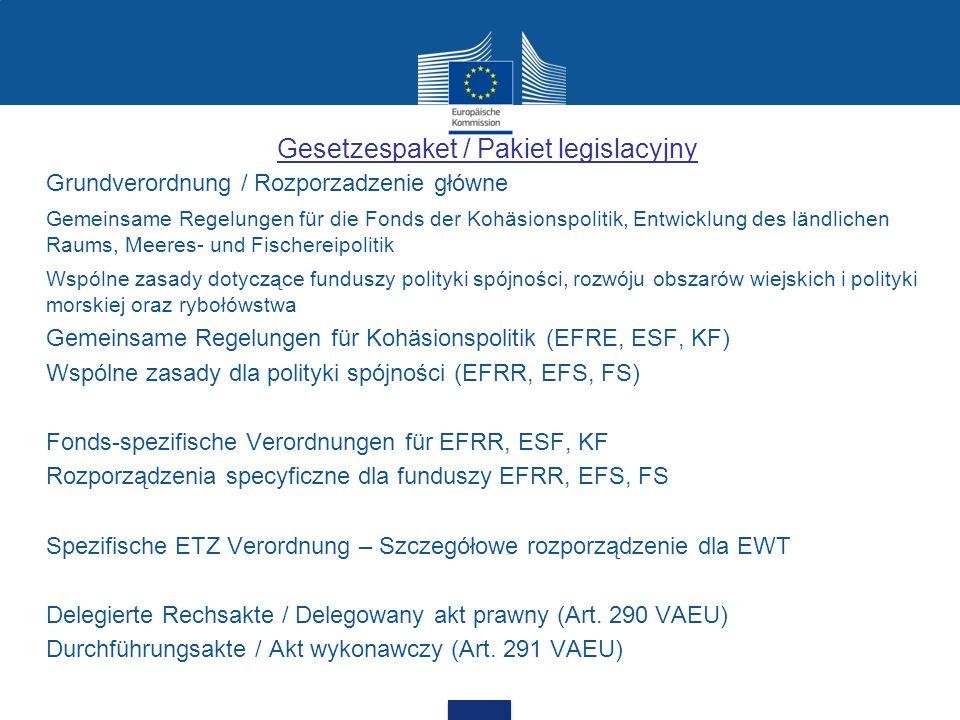 Gesetzespaket / Pakiet legislacyjny