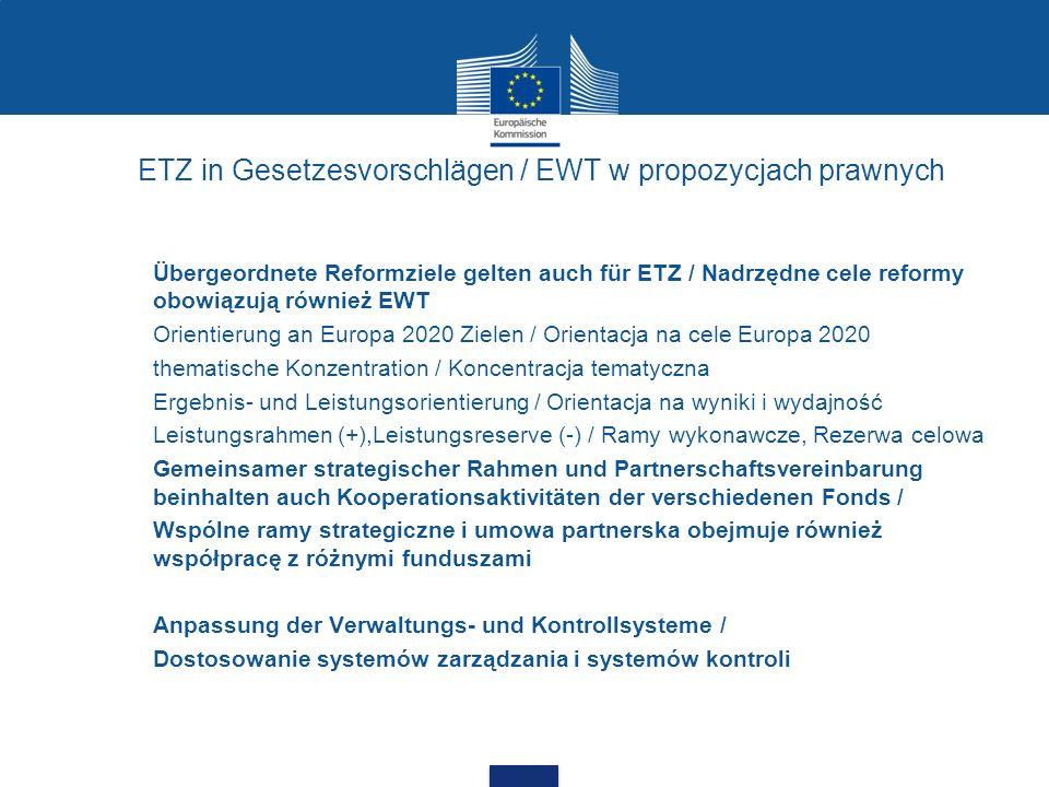 ETZ in Gesetzesvorschlägen / EWT w propozycjach prawnych