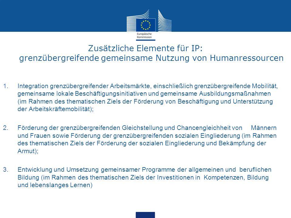 Zusätzliche Elemente für IP: grenzübergreifende gemeinsame Nutzung von Humanressourcen