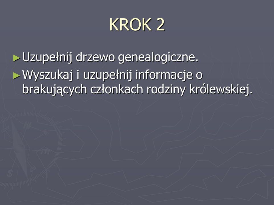 KROK 2 Uzupełnij drzewo genealogiczne.