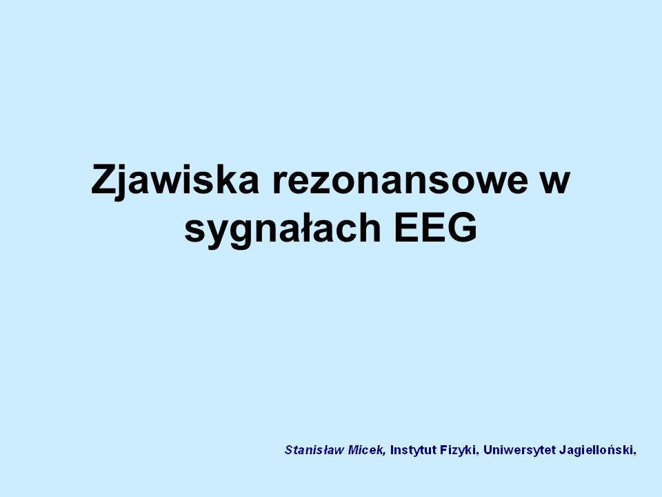 Zjawiska rezonansowe w sygnałach EEG