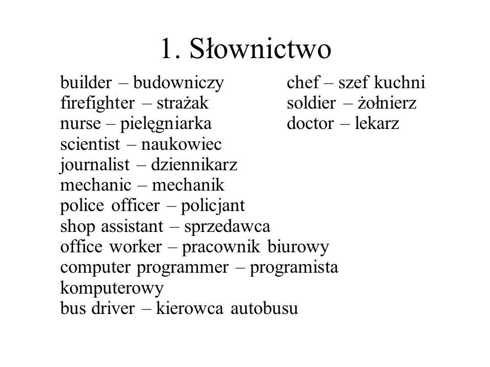 1. Słownictwo