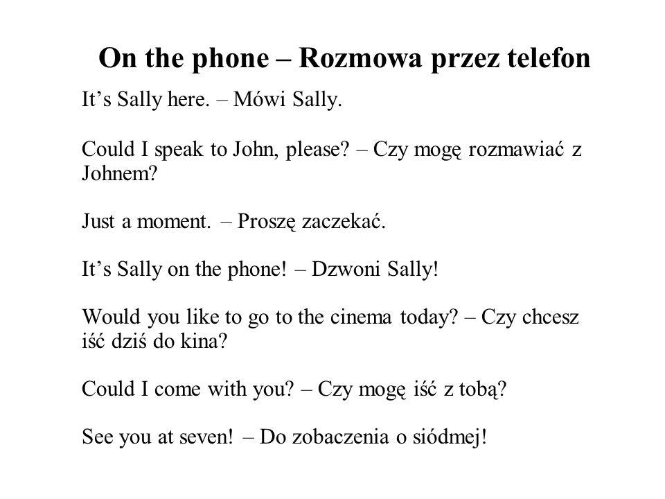 On the phone – Rozmowa przez telefon