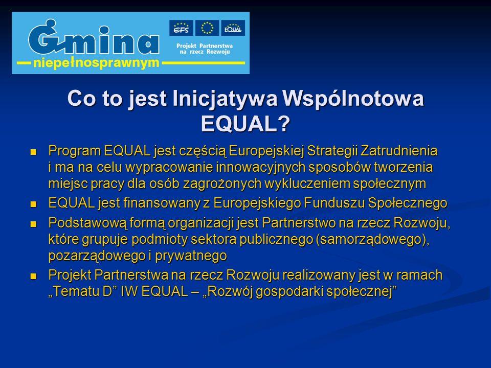 Co to jest Inicjatywa Wspólnotowa EQUAL