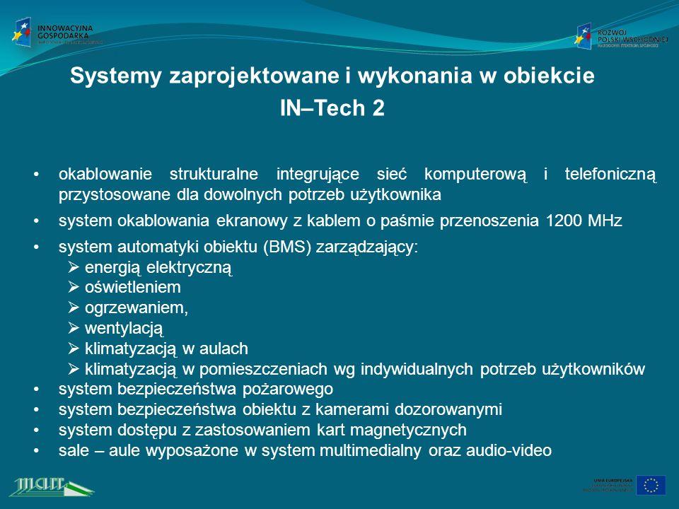 Systemy zaprojektowane i wykonania w obiekcie
