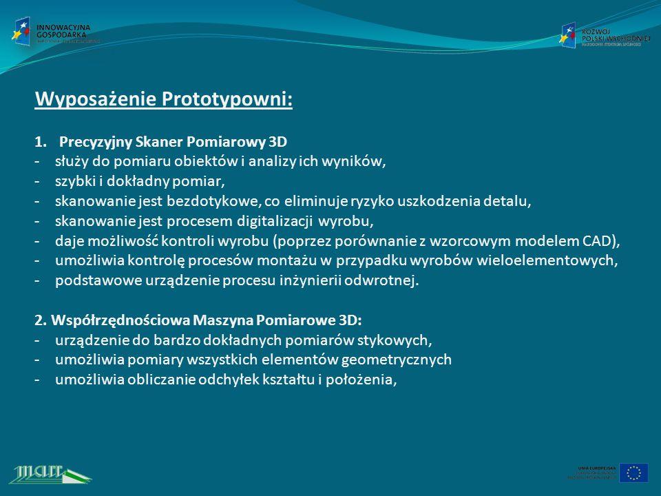 Wyposażenie Prototypowni: