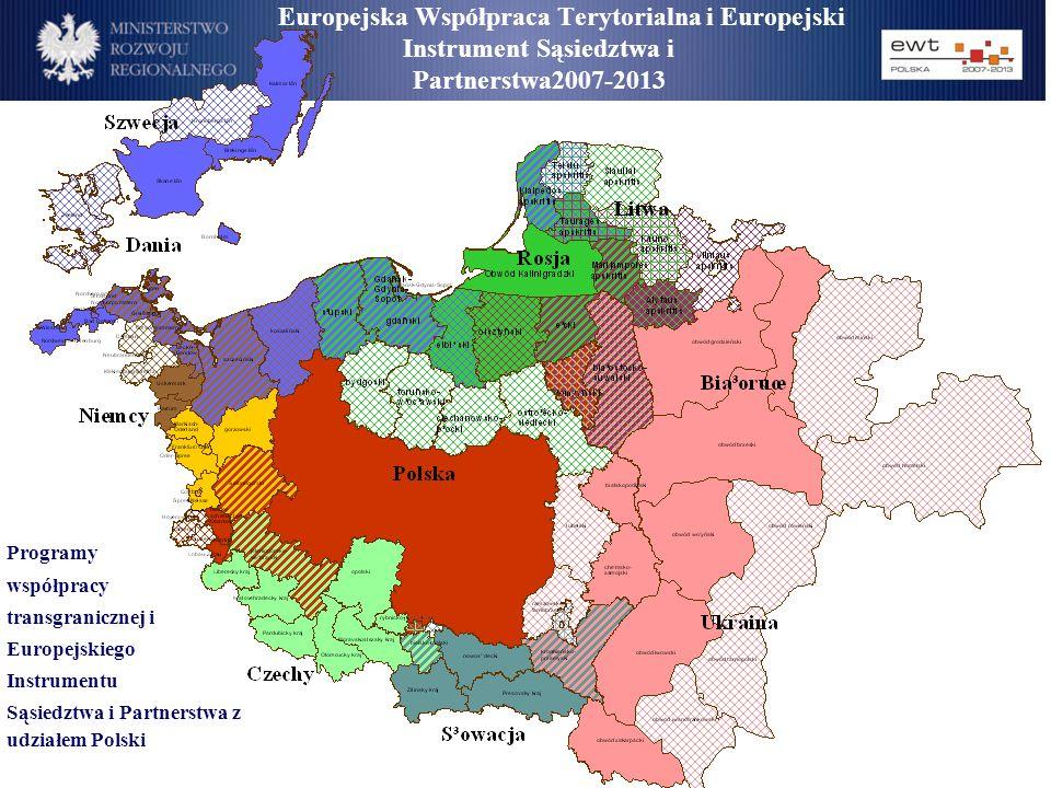 Europejska Współpraca Terytorialna i Europejski Instrument Sąsiedztwa i Partnerstwa2007-2013