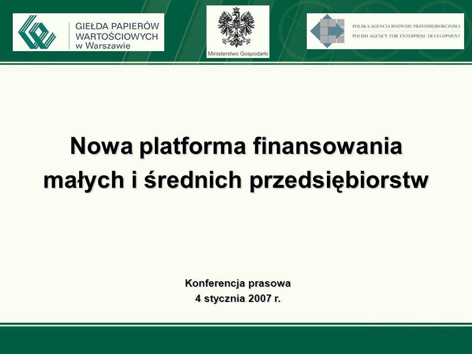 Nowa platforma finansowania małych i średnich przedsiębiorstw