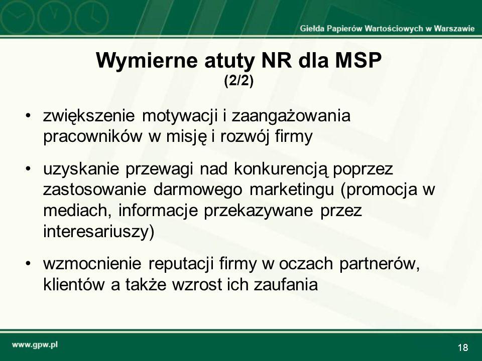 Wymierne atuty NR dla MSP (2/2)