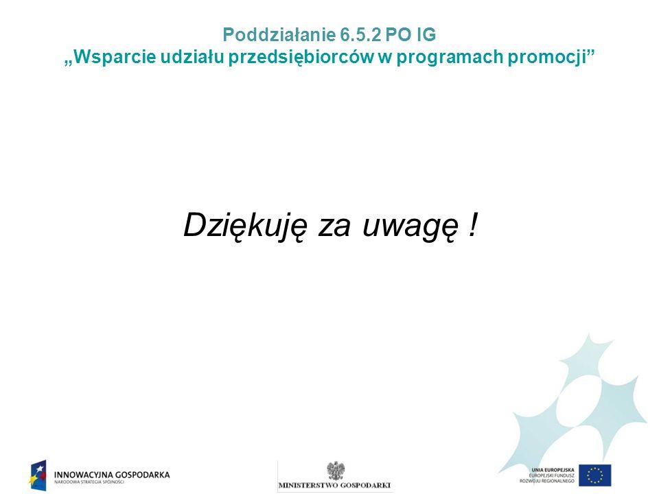 """Poddziałanie 6.5.2 PO IG """"Wsparcie udziału przedsiębiorców w programach promocji"""