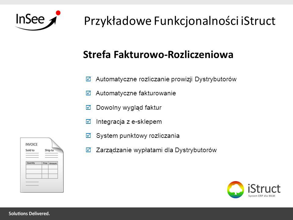 Przykładowe Funkcjonalności iStruct