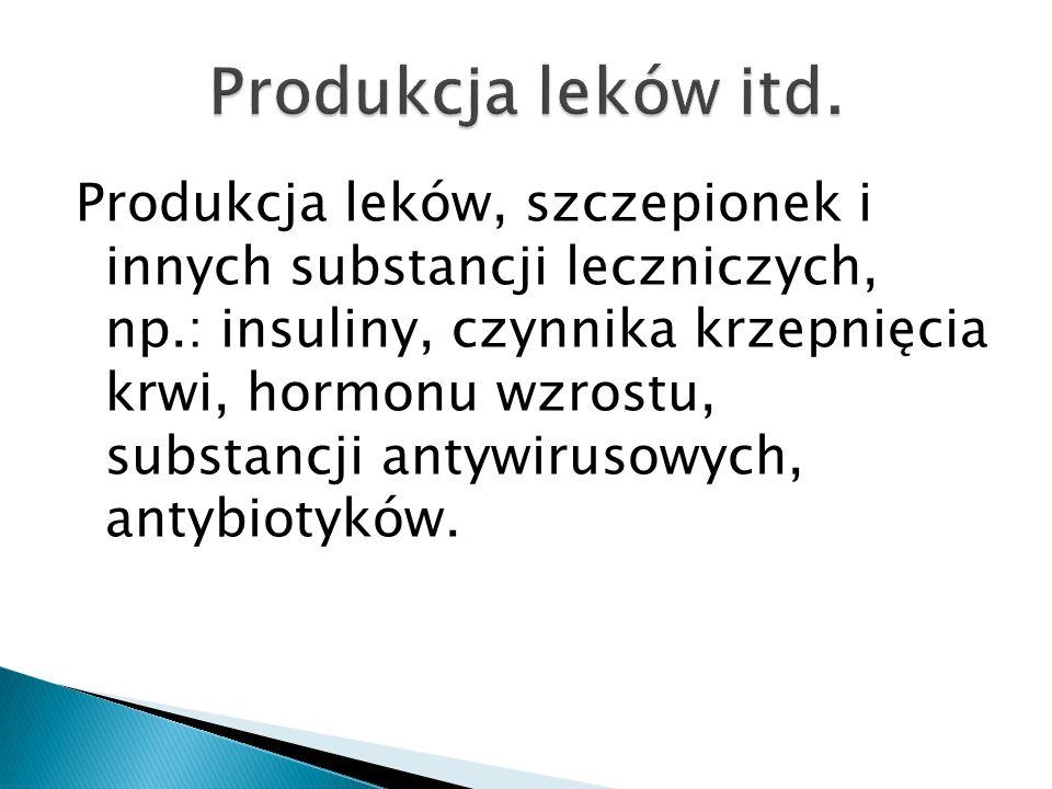 Produkcja leków itd.