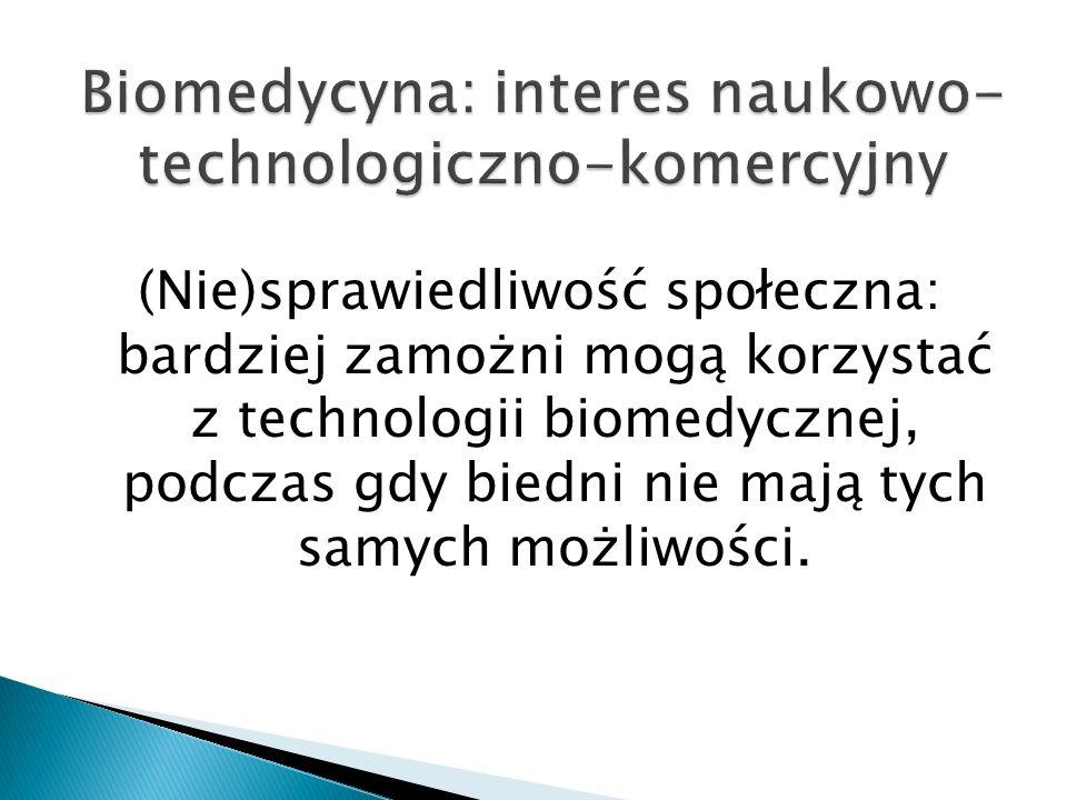 Biomedycyna: interes naukowo-technologiczno-komercyjny