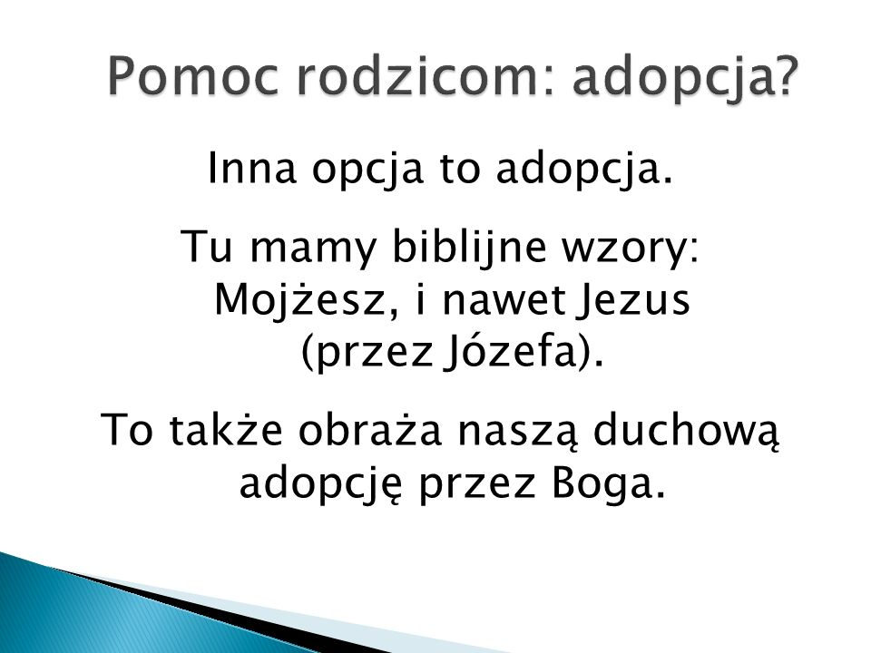 Pomoc rodzicom: adopcja