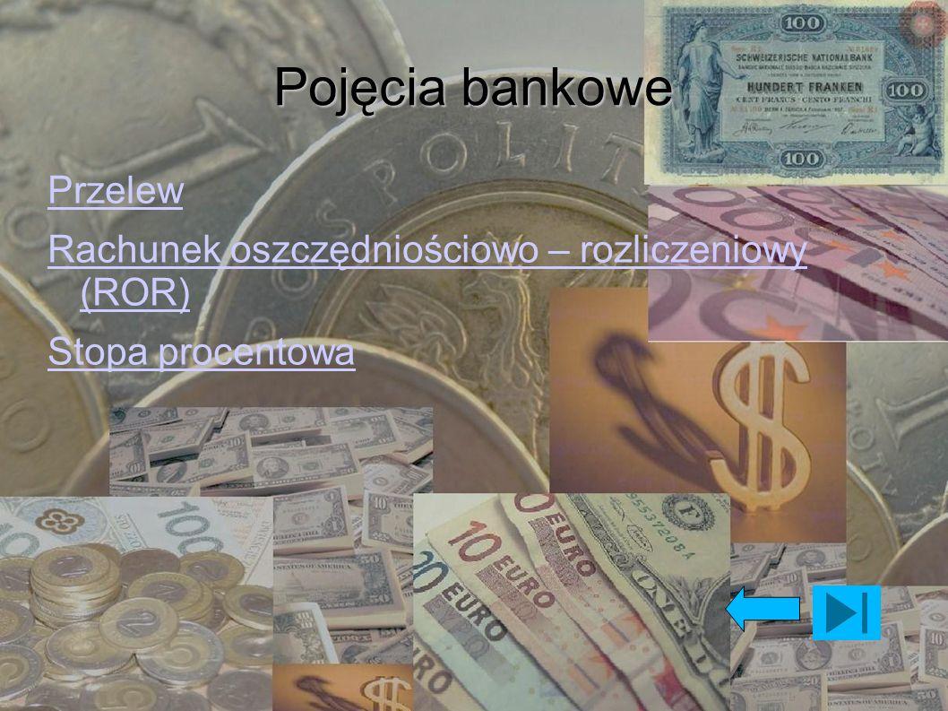 Pojęcia bankowe Przelew