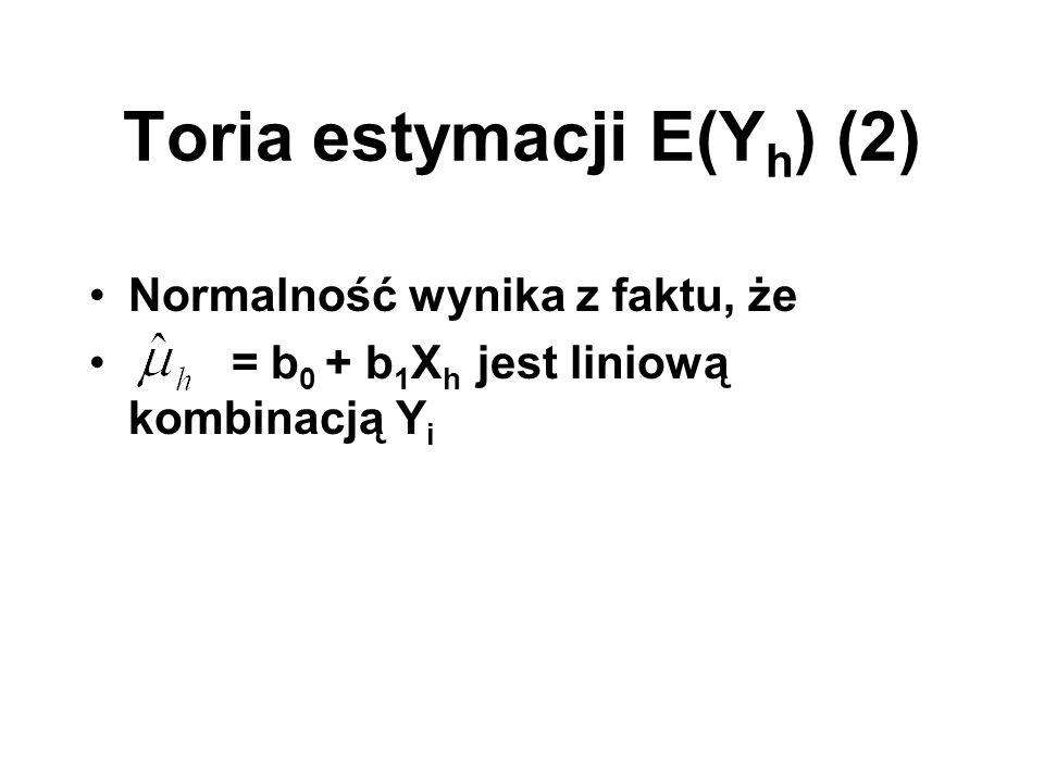 Toria estymacji E(Yh) (2)