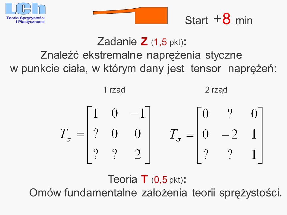 1 Start +8 min Zadanie Z (1,5 pkt):