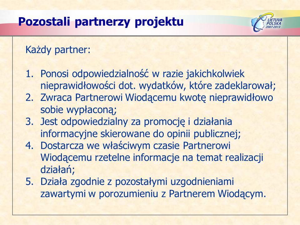 Pozostali partnerzy projektu