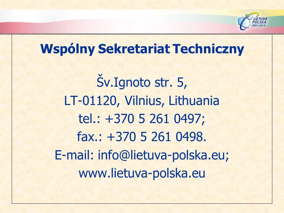 Wspólny Sekretariat Techniczny Šv.Ignoto str. 5,