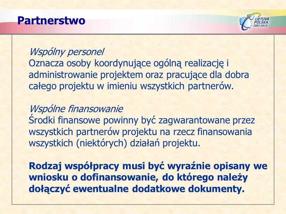 Partnerstwo Wspólny personel