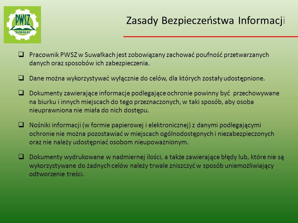 Zasady Bezpieczeństwa Informacji