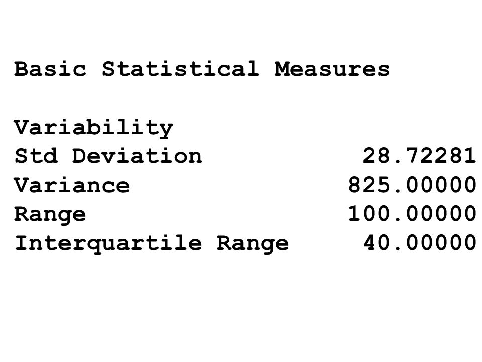 Basic Statistical Measures