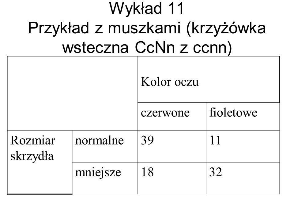Wykład 11 Przykład z muszkami (krzyżówka wsteczna CcNn z ccnn)