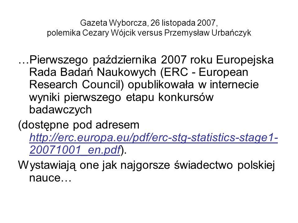 Wystawiają one jak najgorsze świadectwo polskiej nauce…