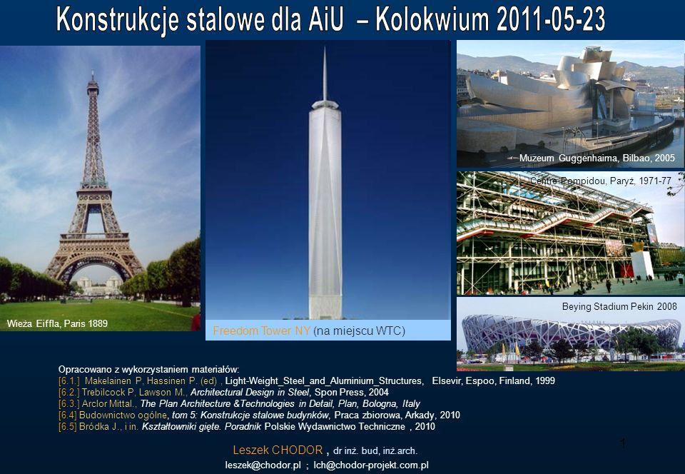 Konstrukcje stalowe dla AiU – Kolokwium 2011-05-23