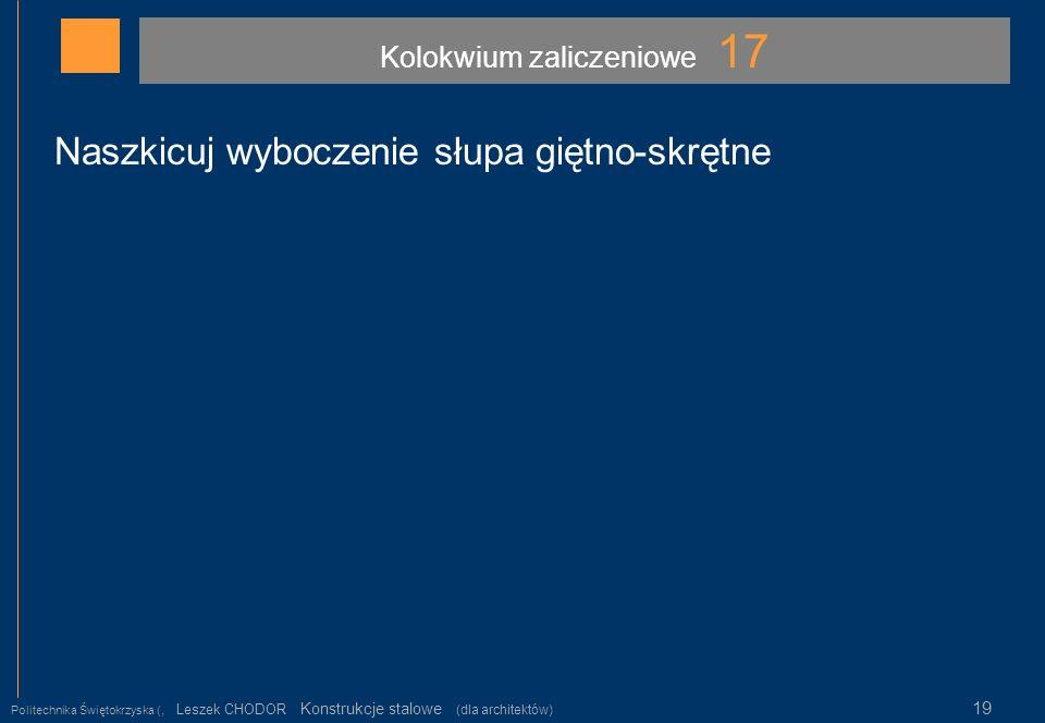 Kolokwium zaliczeniowe 17