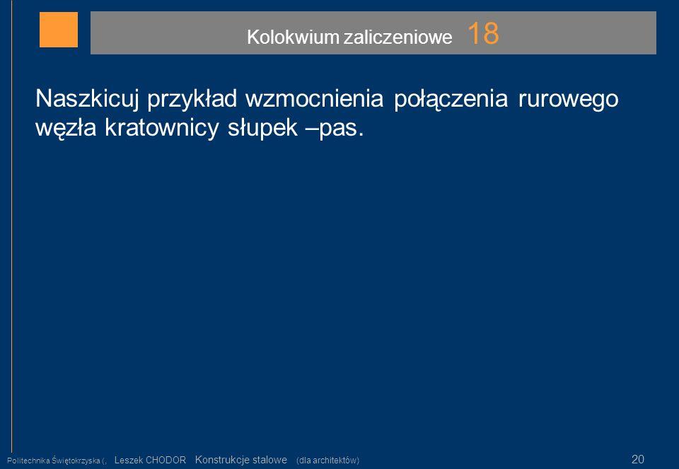 Kolokwium zaliczeniowe 18