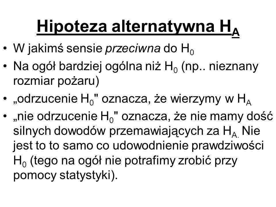 Hipoteza alternatywna HA