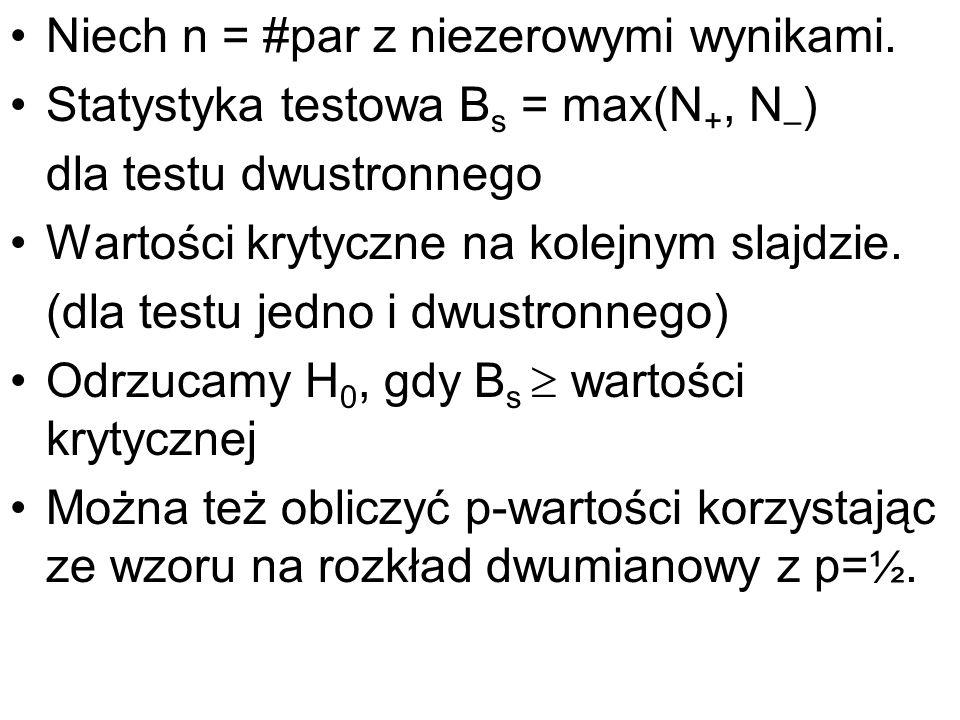 Niech n = #par z niezerowymi wynikami.