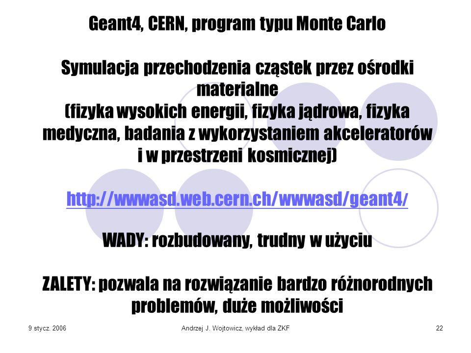 Geant4, CERN, program typu Monte Carlo