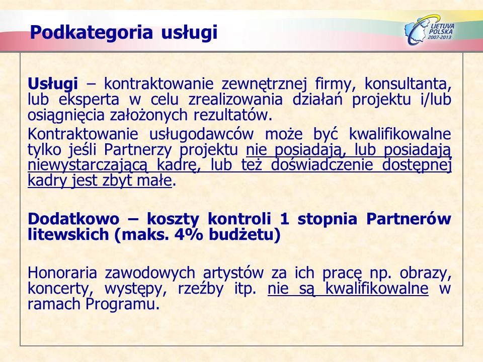 Podkategoria usługi