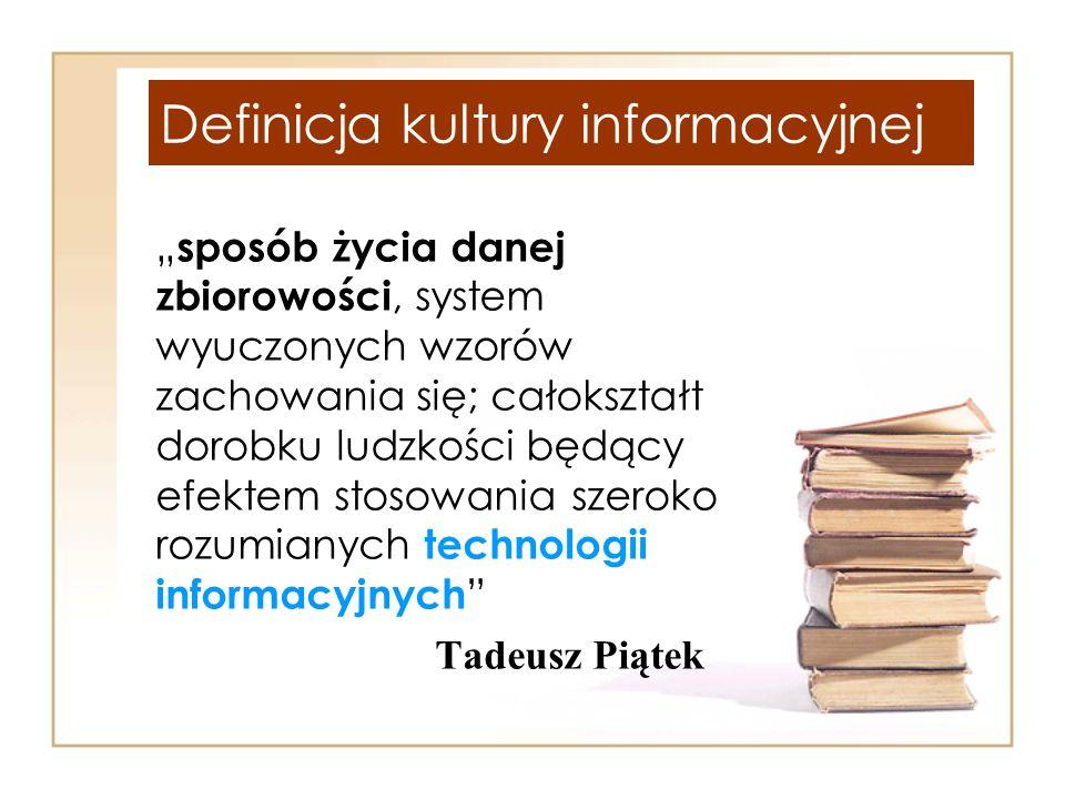 Definicja kultury informacyjnej