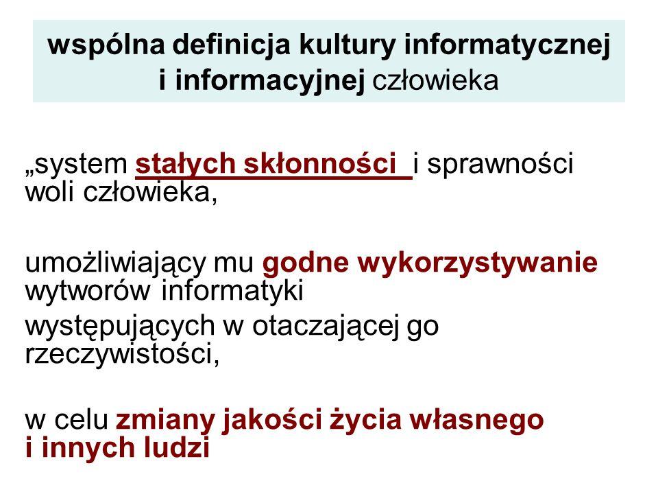 wspólna definicja kultury informatycznej i informacyjnej człowieka