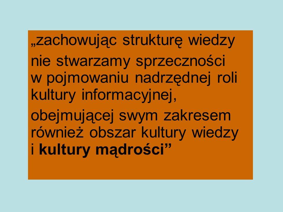 """""""zachowując strukturę wiedzy"""
