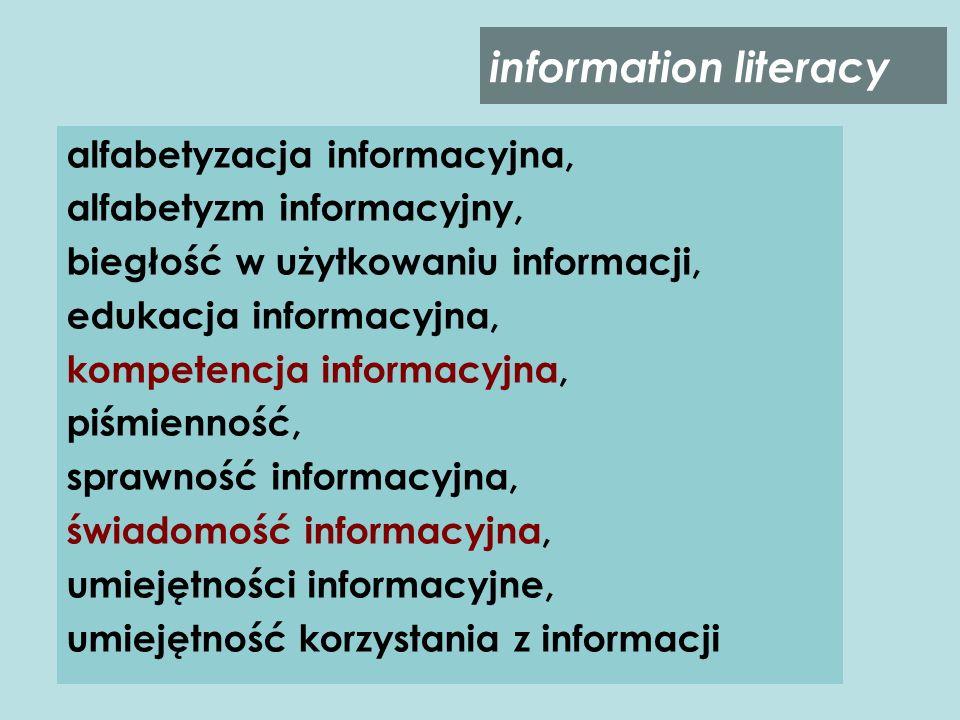 information literacy alfabetyzacja informacyjna,