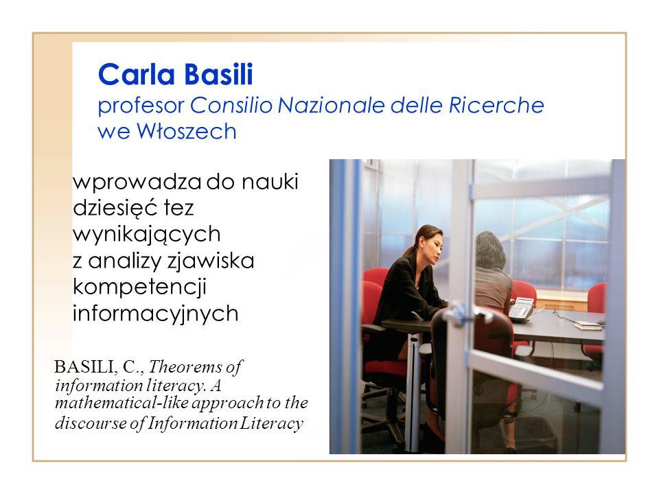 Carla Basili profesor Consilio Nazionale delle Ricerche we Włoszech