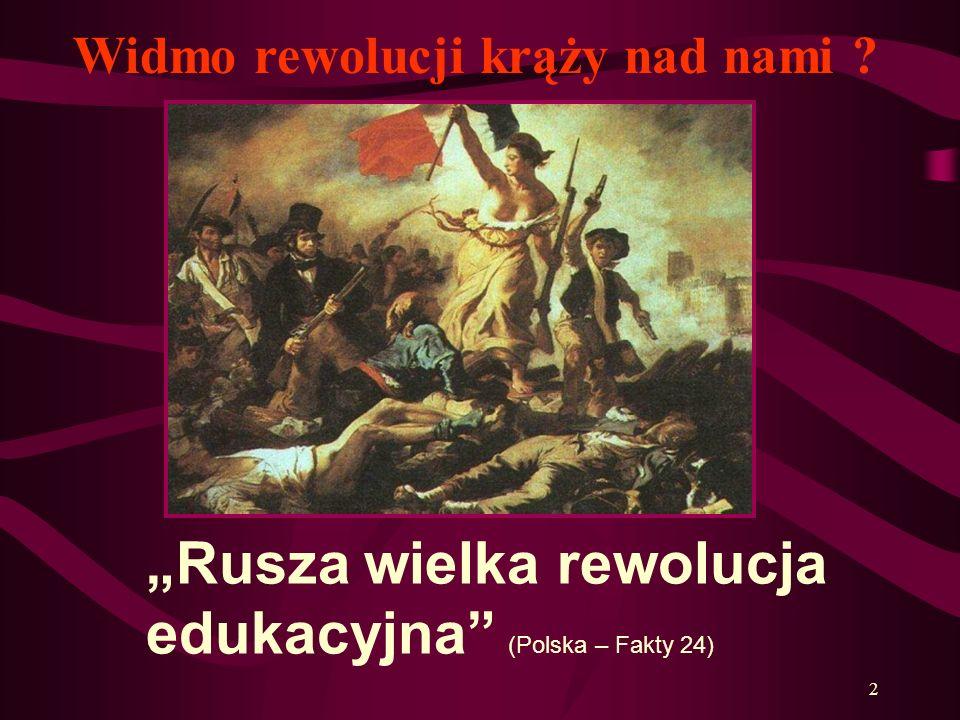 """""""Rusza wielka rewolucja edukacyjna (Polska – Fakty 24)"""