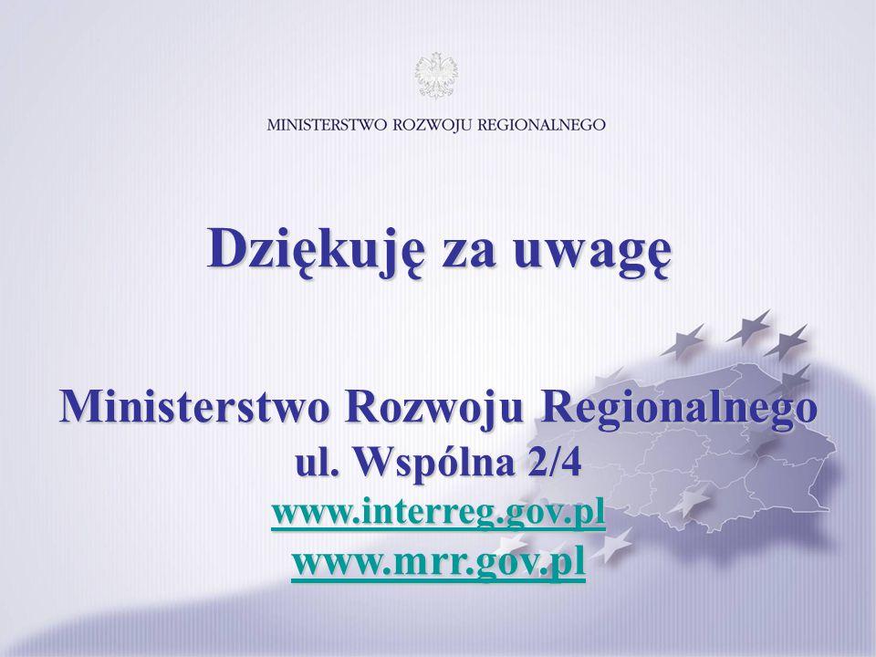 Ministerstwo Rozwoju Regionalnego ul. Wspólna 2/4