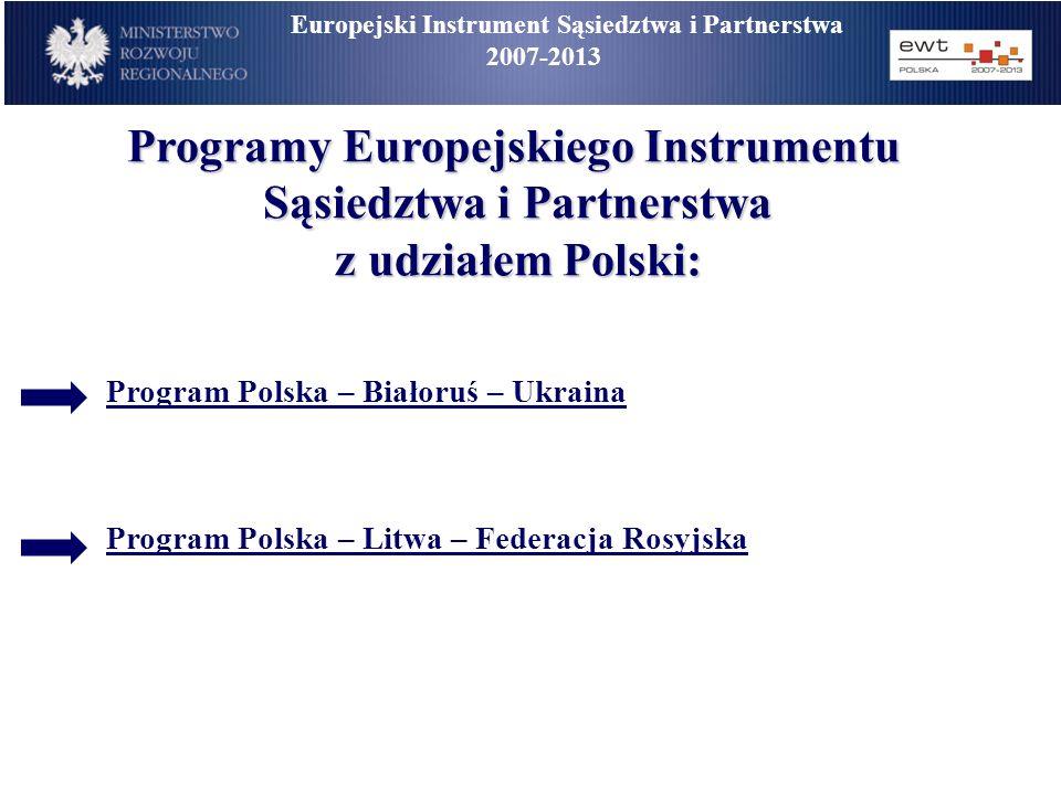 Europejski Instrument Sąsiedztwa i Partnerstwa 2007-2013