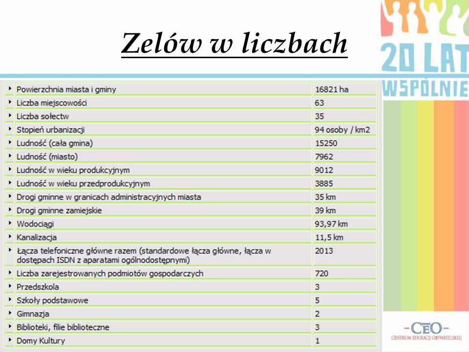 Zelów w liczbach