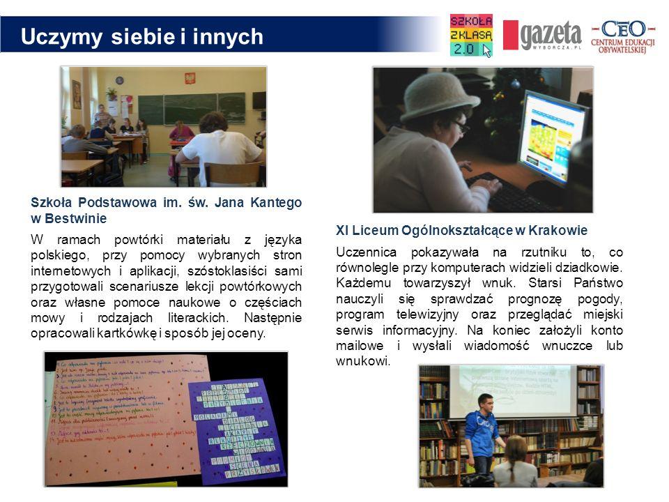 Uczymy siebie i innych Szkoła Podstawowa im. św. Jana Kantego w Bestwinie.