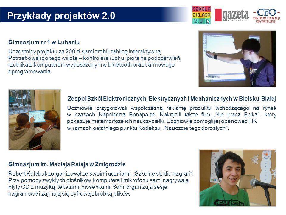 Przykłady projektów 2.0